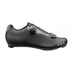 fizik Sattel R5Uomo Boa Road Fahrradschuhe, Herren, schwarz/dunkelgrau, 46.5