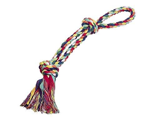 Nobby Rope Toy, Spielseil doppelt bunt 55 cm; 320 g; 2 Knoten