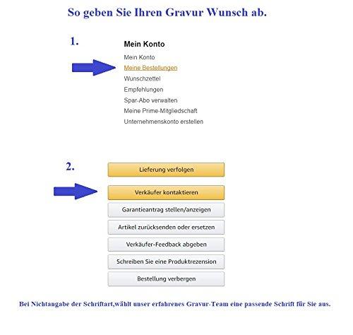 Hanessa Gravierte Edel-Stahl Kette Partner-ketten mit Wunsch Gravur Edel-Stahl Anhänger in Rose-Gold und schwarz. Edelstahl Ketten in Silber Schmuck für Paare