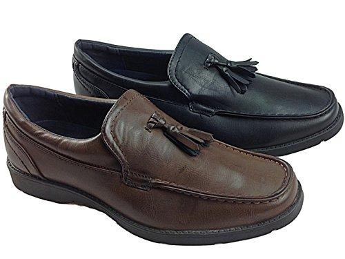 Foster Footwear ,  Jungen Herren Durchgängies Plateau Sandalen mit Keilabsatz LSC902: Brown