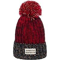VORCOOL Sombrero Gorro de Punto niña Bebe con pompón Sombrero de Invierno (Rojo)