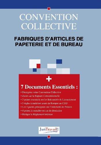 3019. Fabriques d'articles de papeterie et de bureau Convention collective