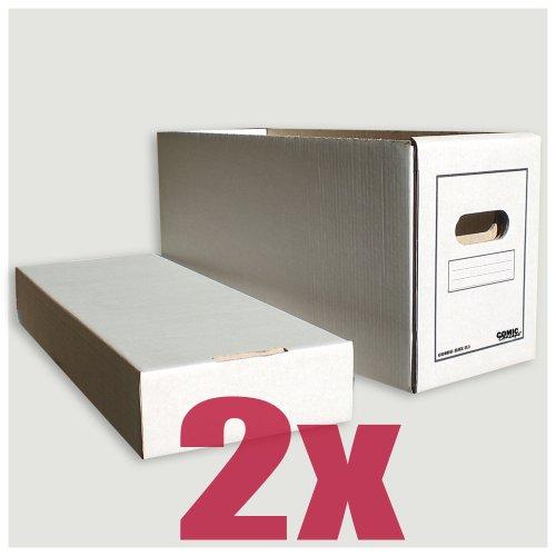 Comic Concept Comic-Box (lang) 2er-Pack aus stabilem Karton