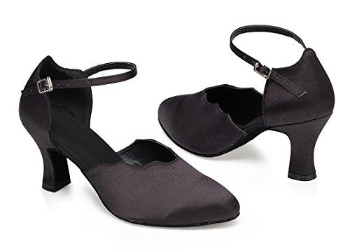 TDA , Sandales Compensées femme 7cm Heel Black