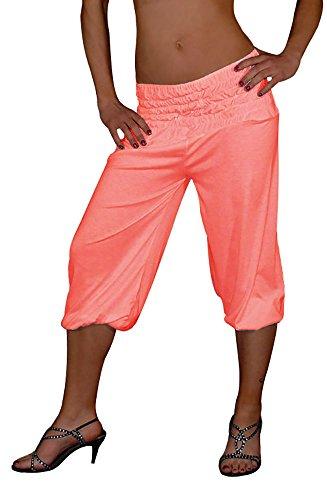 S&LU tolle kurze Damen Haremshose, Pluderhose in 4 Größen von XXS bis XXXXXXL (6XL) wählbar (Einheitsgröße XXL-5XL, (Billig Gorilla Kostüm)