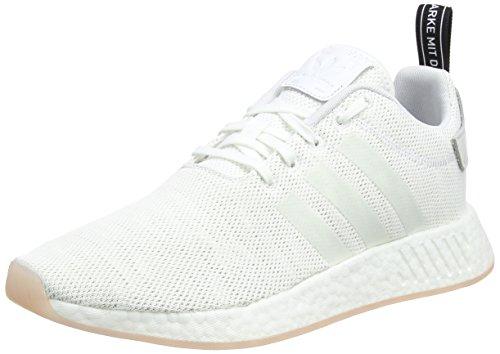 adidas Damen NMD_R2 Gymnastikschuhe, Elfenbein (Crystal White S16/Ftwr White/Core Black), 38 EU