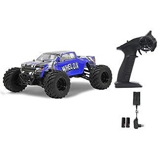 Whelon Monstertruck 1:12 4WD Li-Ion 2.4GHz, Allrad, Elektroantrieb, Akku, 35KMh, spritzwasserfest, gekapseltes Getriebe, Kugellager, Fahrwerk einstellbar, hochdrehender Motor,fahrfertig