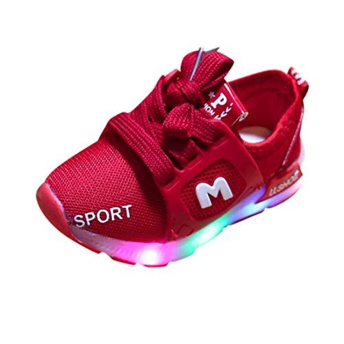 YOUBan Bébé Doux Lumineux extérieur Sport Sandales, Enfant en Bas âge a Conduit des Chaussures légères garçons Doux Lumineux extérieur Sport Sandales