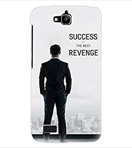 ColourCraft Quotes Back Case Cover for HUAWEI HONOR HOLLY