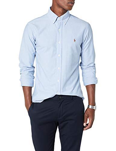Ralph lauren slim fit bd ppc, camicia da cerimonia uomo, blu (bsr blue b4060), medium (taglia produttore: 38)