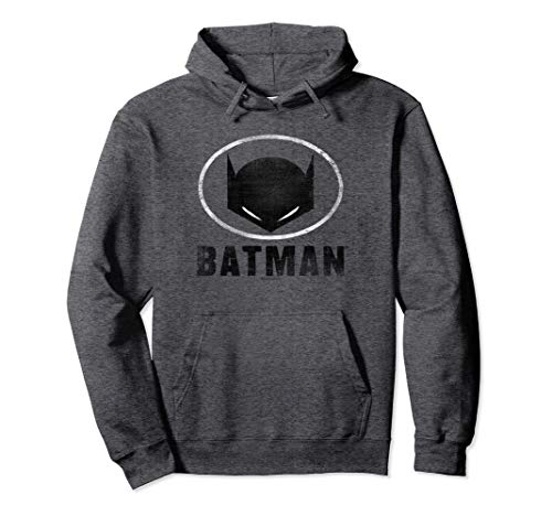 Batman Hoodie With Mask - Batman Mask in Oval Pullover