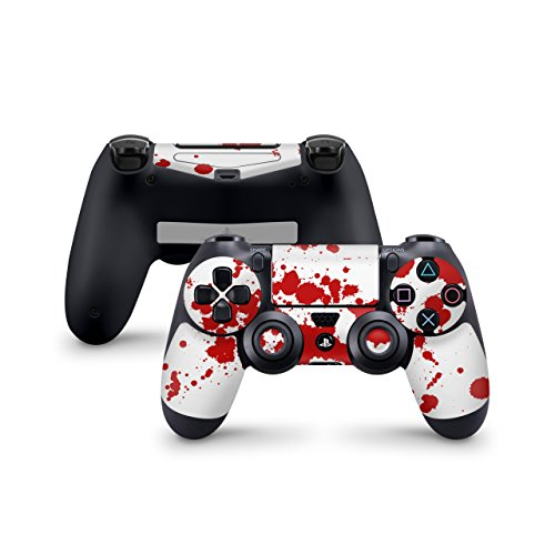 Skins4u Sony Playstation 4 Skin PS4 Controller Skins Design Sticker Aufkleber styling Set auch für Slim & Pro - Blood