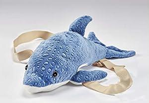 Anima Doo- Dauphin Doo 21102 - Mochila de Peluche (40 cm), Color Azul