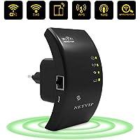 NETVIP Repetidor WiFi Extensor de Red WiFi, WLAN Amplificador Wireless Ap/Repetidor Modos 2.4GHz 300Mbps 802.11n/b/g-LAN Ethernet
