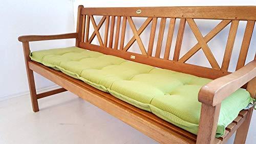 Sedex Bankauflage 118cm grün Sitzpolster Bankkissen mit Schlaufe