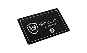 RFID Blocker Karte NFC Schutzkarte - Störsender Technologie 2019 | Eine Karte schützt | Nur 1,0 mm dünn | Keine Schutzhüllen mehr | Schutz Dank E-Field | Kreditkarte Schutz EC Karte