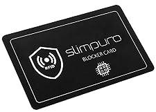 ★★★ Die innovative slimpuro RFID NFC Blocker Karte ★★★ ⚡ Eine einzige Karte schützt Ihr gesamtes Portemonnaie vor Datenklau Nie wieder benötigen Sie einzelne RFID Kartenschutzhüllen! Sie benötigen auch keine zwei Karten, wie bei den meisten anderen A...