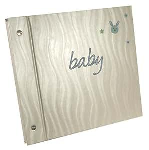 Pink Pineapple Album photo pour bébé avec lapin brodé Bleu