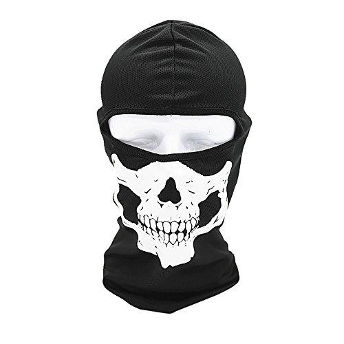 Preisvergleich Produktbild Migaretin Schädel Druck Winddicht Taktische Motorrad Radfahren Jagd Outdoor Ski Gesichtsmaske Helm