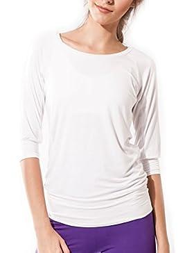 Sternitz Camiseta Fitness para mujer, Ananda, Tela de Bambú - Ecológica y Suave - Perfecta para Yoga/Pilates/Deportes...