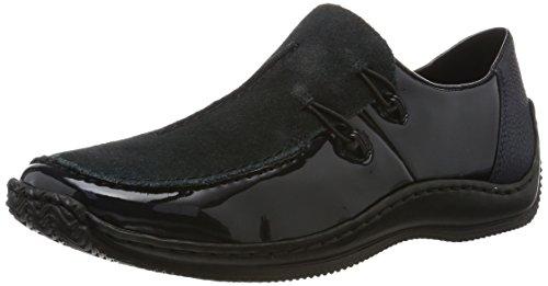 Rieker Damen L1751 Slipper, Blau (Marine/Pazifik/Pazifik), 38 EU (Marine-blau-leder-loafer)