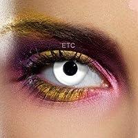 Lentillas de contacto color anual - Colour Vision Crazy Lens WHITE OUT - Sus ojos no se parecerán !