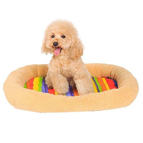 Kunststoff-matratze-protector (Pet bett, hansee Winter Geschenk für Haustiere pet Supplies Bett Hundehütte Katze Hund Komfort Colorful Streifen Pet Pad)