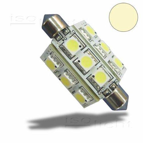 LED Soffitte 42mm 10-30V/DC, 9SMD, 2 Watt, Warmweiß, 140 LumenKfz,PKW,LKW,Wohnmobil,Boote, Türsprechanlagen Beleuchtung von Isolicht