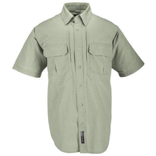 5.11 Herren Tactical # 71152 Baumwolle Tactical Short Sleeve Shirt Größe L graugrün (Shorts 5.11 Cotton Tactical)