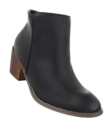 Schuhcity24 Damen Schuhe 16881 Stiefeletten Schwarz 41
