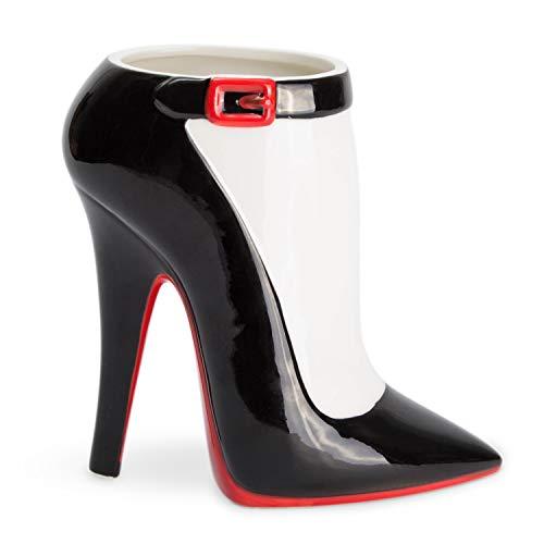 el & groove High Heel Tasse groß schwarz rot in 3D, Kaffee-Tasse 350 ml (450ml randvoll), Tee-Tasse...