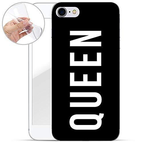 finoo | iPhone 7 Weiche flexible Silikon-Handy-Hülle | Transparente TPU Cover Schale mit Motiv | Tasche Case Etui mit Ultra Slim Rundum-schutz | Queen