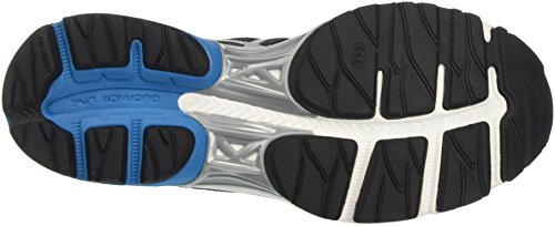 Asics Herren Gel-Pulse 8 Laufschuhe, UK Nero (Black/Silver/Blue Jewel)