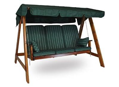 Holz Hollywoodschaukel Honig (3-Sitzer) Design Faro grün
