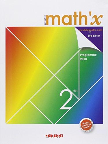 Math'x 2de - manuel grand format - édition 2010