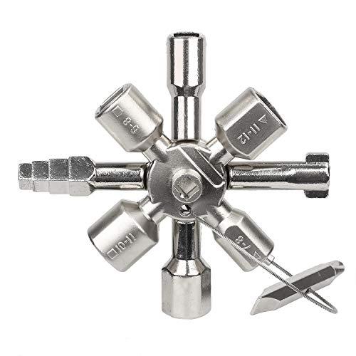 Hyber&Cara - Llave de control de agua eléctrica para gabinete, llave de...