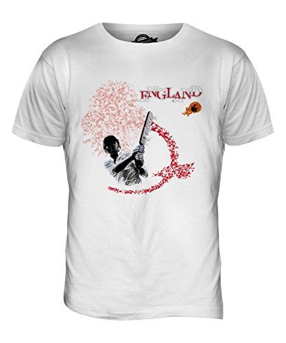 CandyMix England Cricket Herren T Shirt Weiß