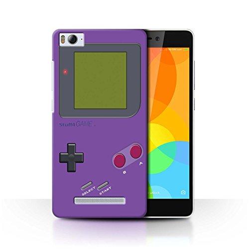 Stuff4® Hülle/Case für Xiaomi Mi 4i / Violett Muster/Videogamer/Gameboy Kollektion