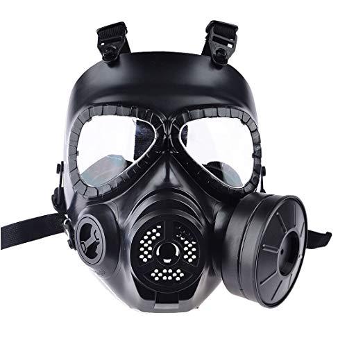 Kostüm Dummy Mädchen - CS Airsoft Paintball Dummy Gas Mask with Fan for Cosplay Protection Halloween Evil Antivirus Skull Festival Decor