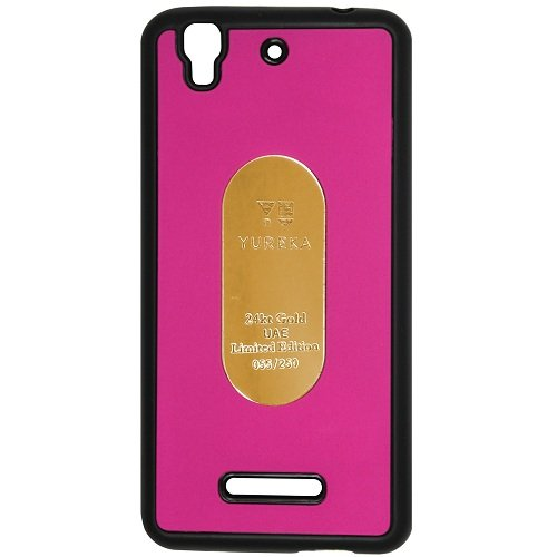 Casotec Metal Back TPU Back Case Cover for Micromax YU Yureka AQ5510 / AO5510 - Pink  available at amazon for Rs.119