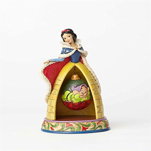 Enesco Disney Traditions Figurita Blanca Nieve Y Dopey, Resina, Multicolor, 18x18x21 cm