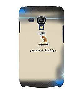 PrintVisa Quotes & Messages Smoke 3D Hard Polycarbonate Designer Back Case Cover for Samsung Galaxy S3 Mini
