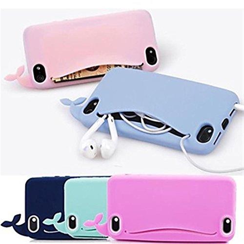 RedSuns Silicone bourse mignon baleine coque <iPhone 5C iPhone 6 Plus iPhone 6 iPhone 5/5S >          (iPhone 6/4.7,Noir) Noir