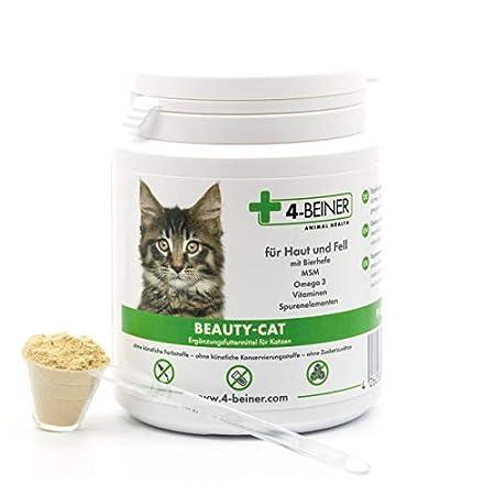 4-BEINER BEAUTY-CAT – glänzendes Fell plus Stärkung, Multi-Vitamine für Katzen mit Omega 3, MSM, Vitamin B-Komplex…