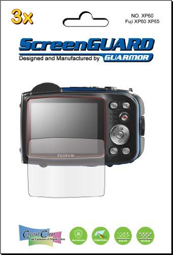 Preisvergleich Produktbild GuarmorShield 3 x Displayschutzfolien für LCD-Displays der digitalen Kameramodelle Fujifilm Fuji Finepix XP60 XP65 XP70 xp75,  Schutzfolien-Set,  exakte Passform,  kein Schneiden erforderlich,  Paket von Guarmor