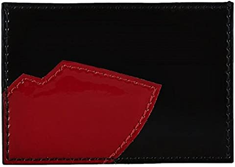 LULU GUINNESS ABSTRACT LIPS PATENT LEATHER CARD HOLDER