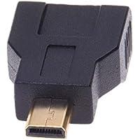 Adaptador - SODIAL(R) Conector Recto Adaptador de Macho Micro HDMI a Hembra Mini HDMI - Negro