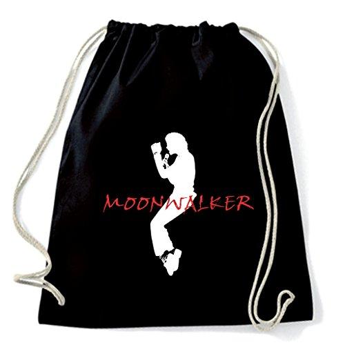 Art Shirt, Rucksack Beutel Michael Jackson Moonwalker, Schwarz, m-j-moonwalker-sac-blk onesize Michael Jackson Rucksack