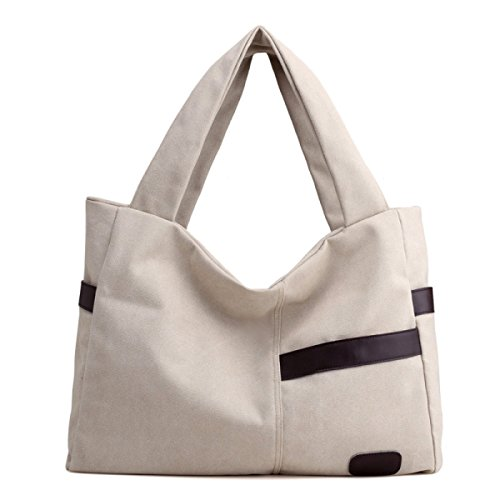 Damen-Segeltuch-Beutel-Art Und Weise Einfache Schulter-Beutel-beiläufige Großverkauf Einkaufstasche-Handtasche Creamy