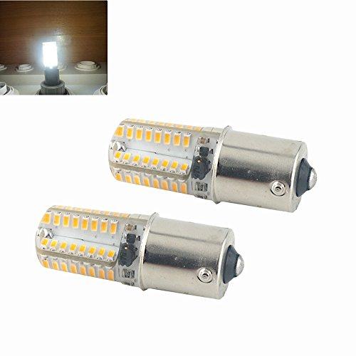 2-Pack 3 watt BA15S LED Sidelight girare indicatore luminoso DC 12V Cool bianco 6000K segnale lampada lampadina faro per auto e camper RV coda di backu